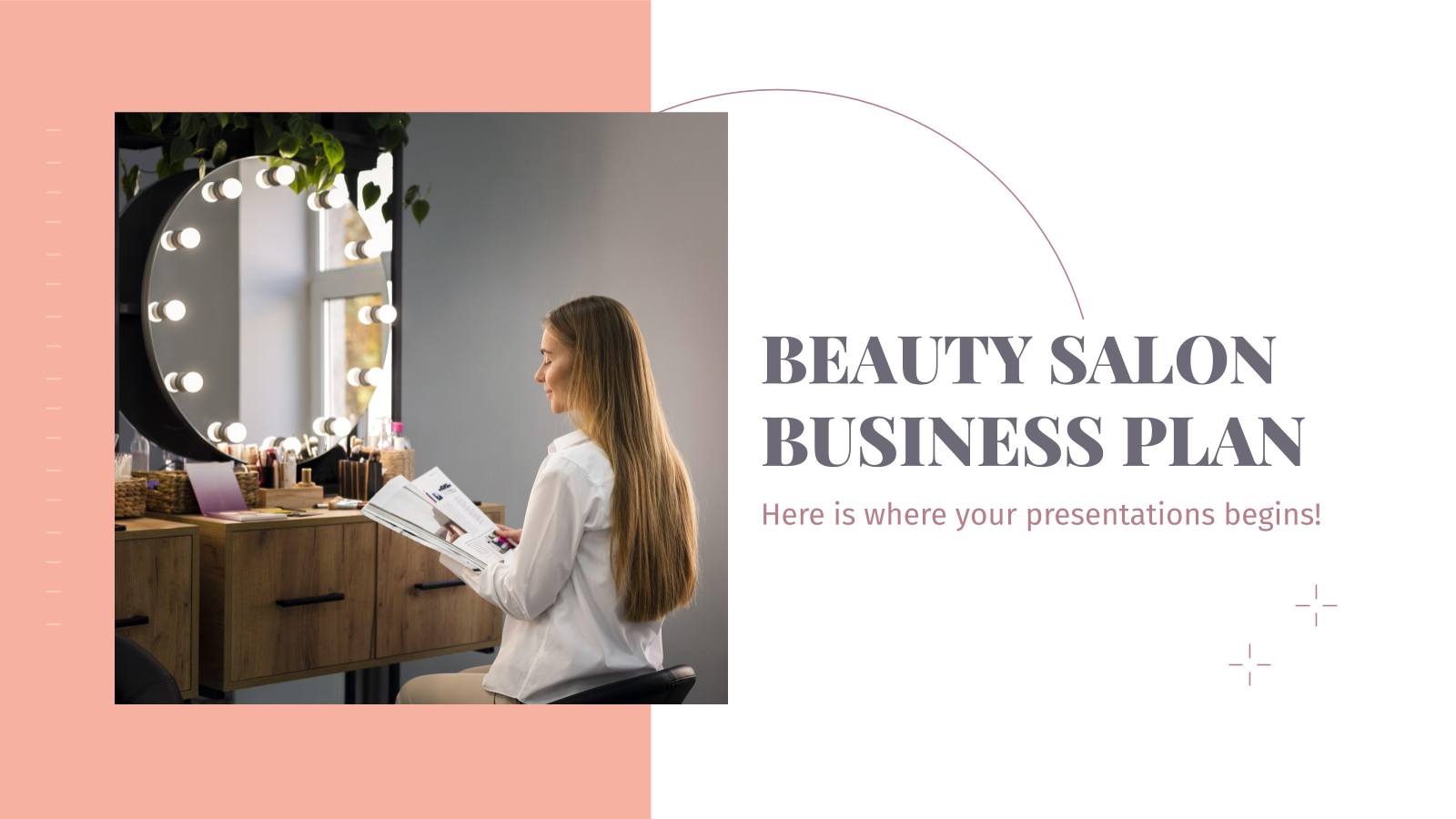 Beauty Salon Business Plan presentation template