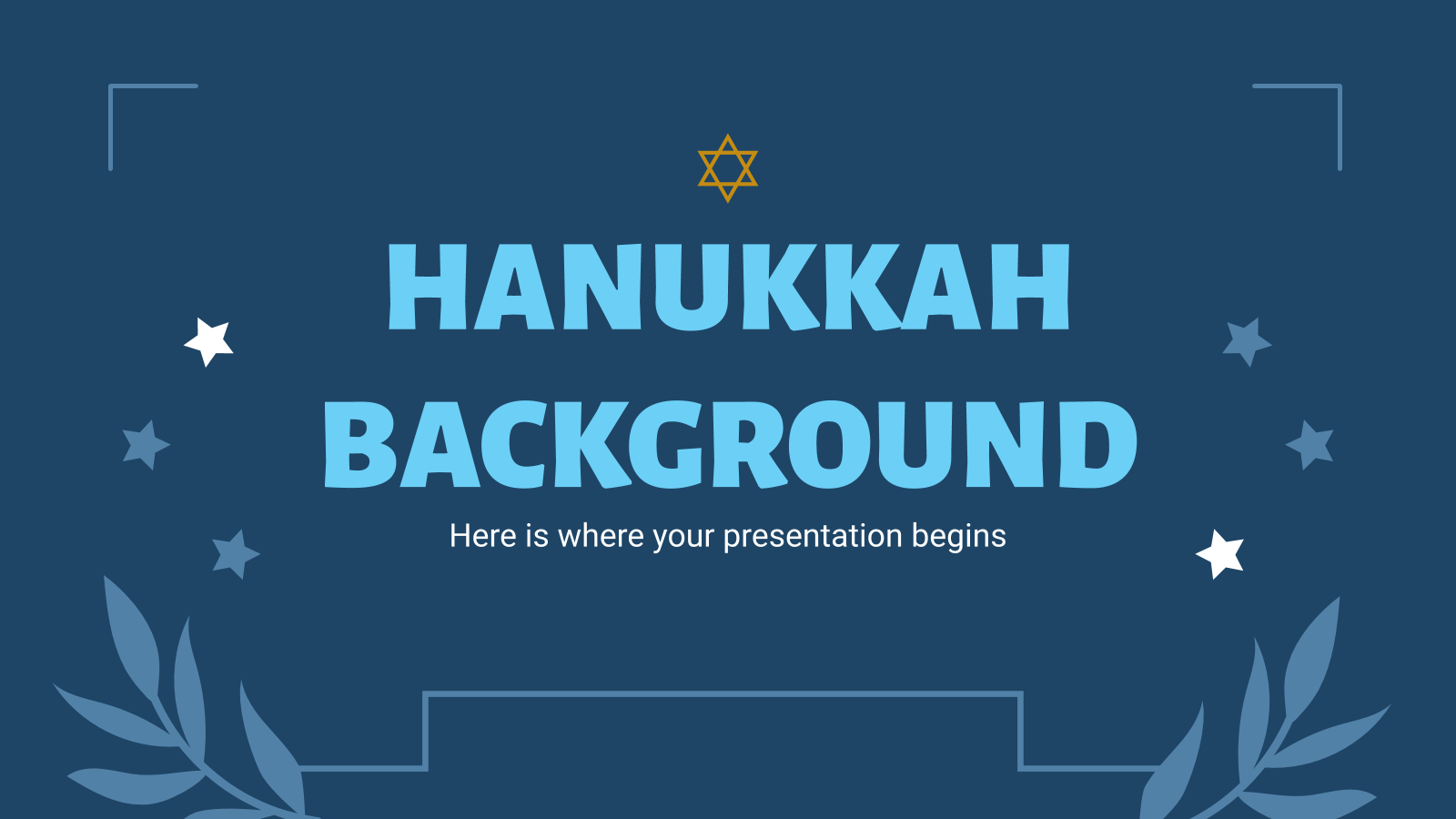 Hannukah Background presentation template