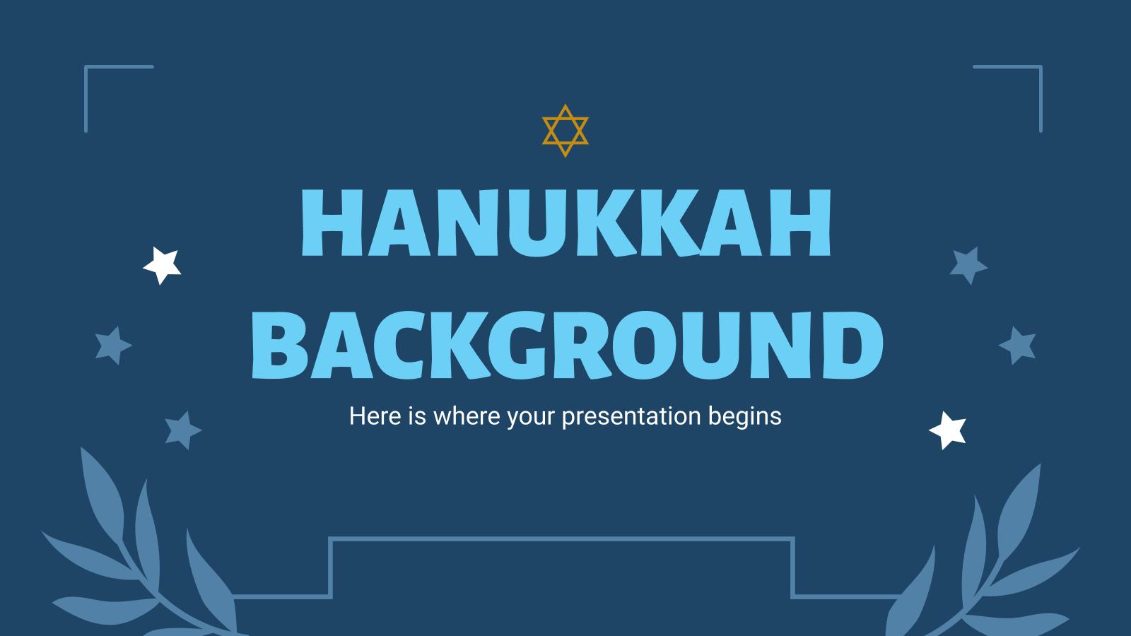 Modelo de apresentação Hannukah