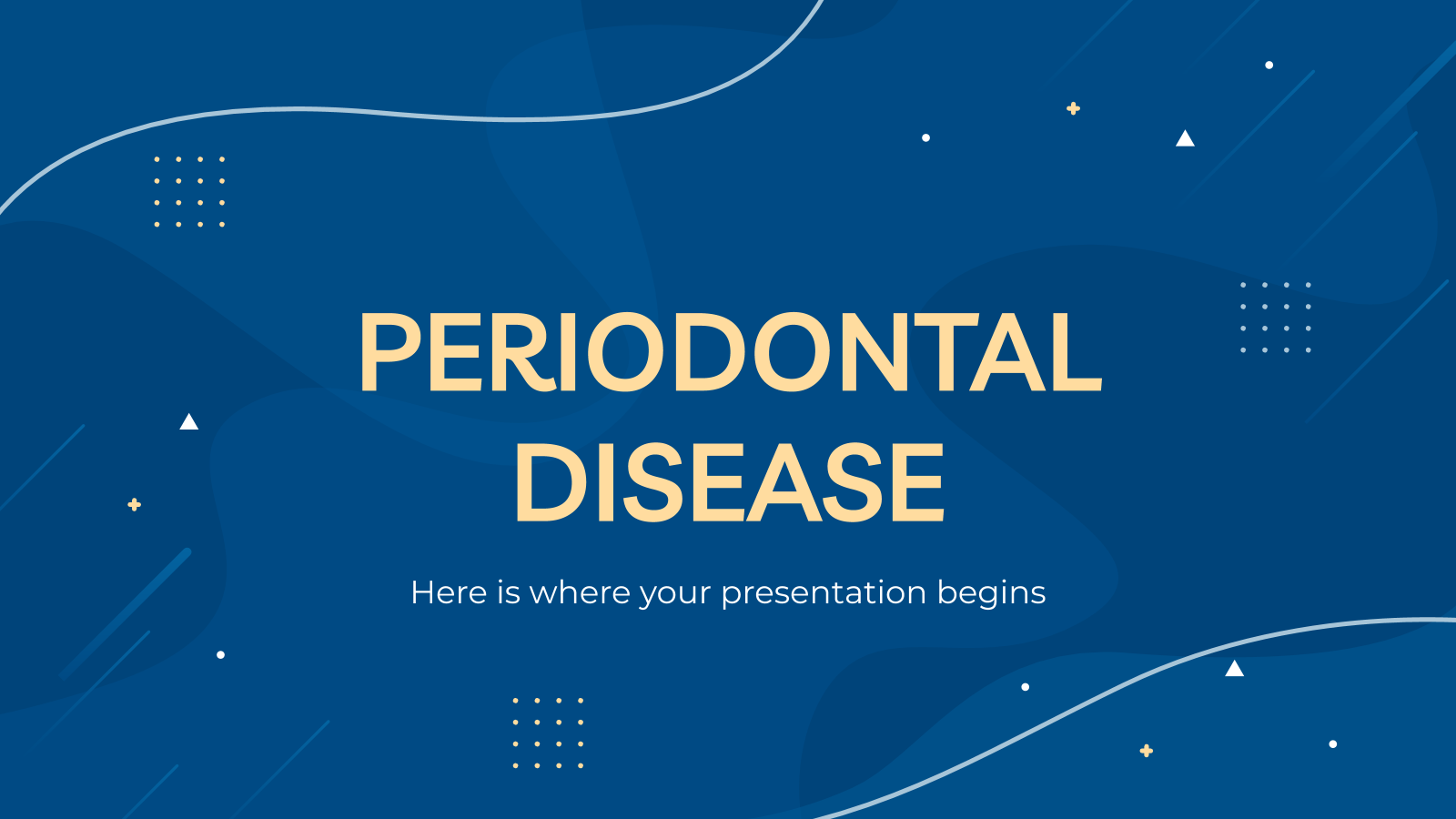 Maladie parodontale : Modèles de présentation