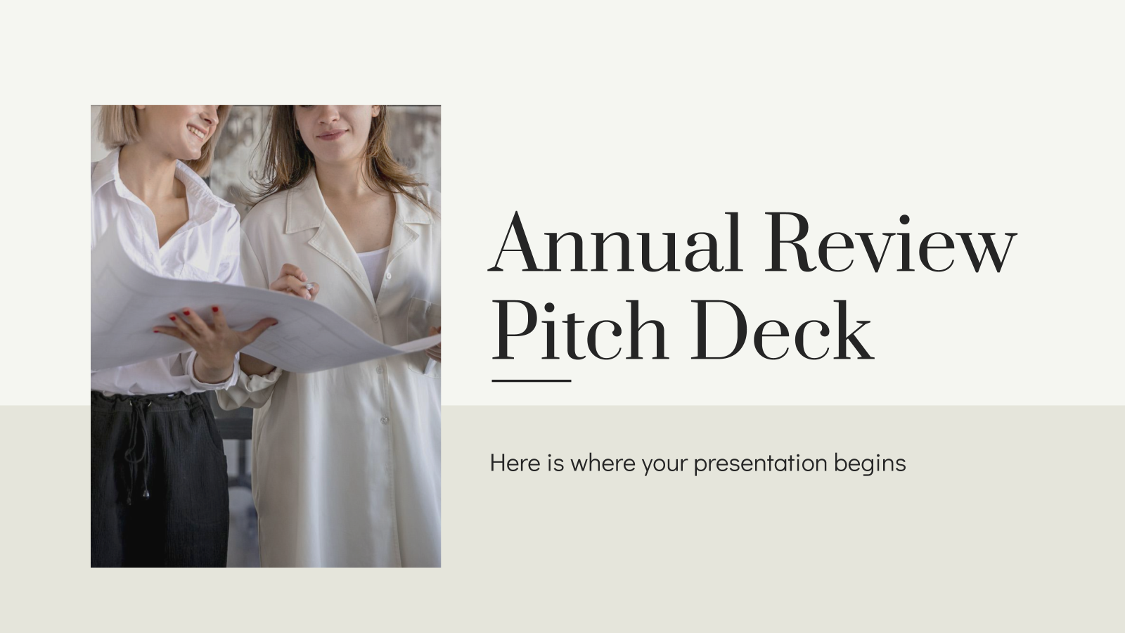Annual Review Pitch Deck presentation template