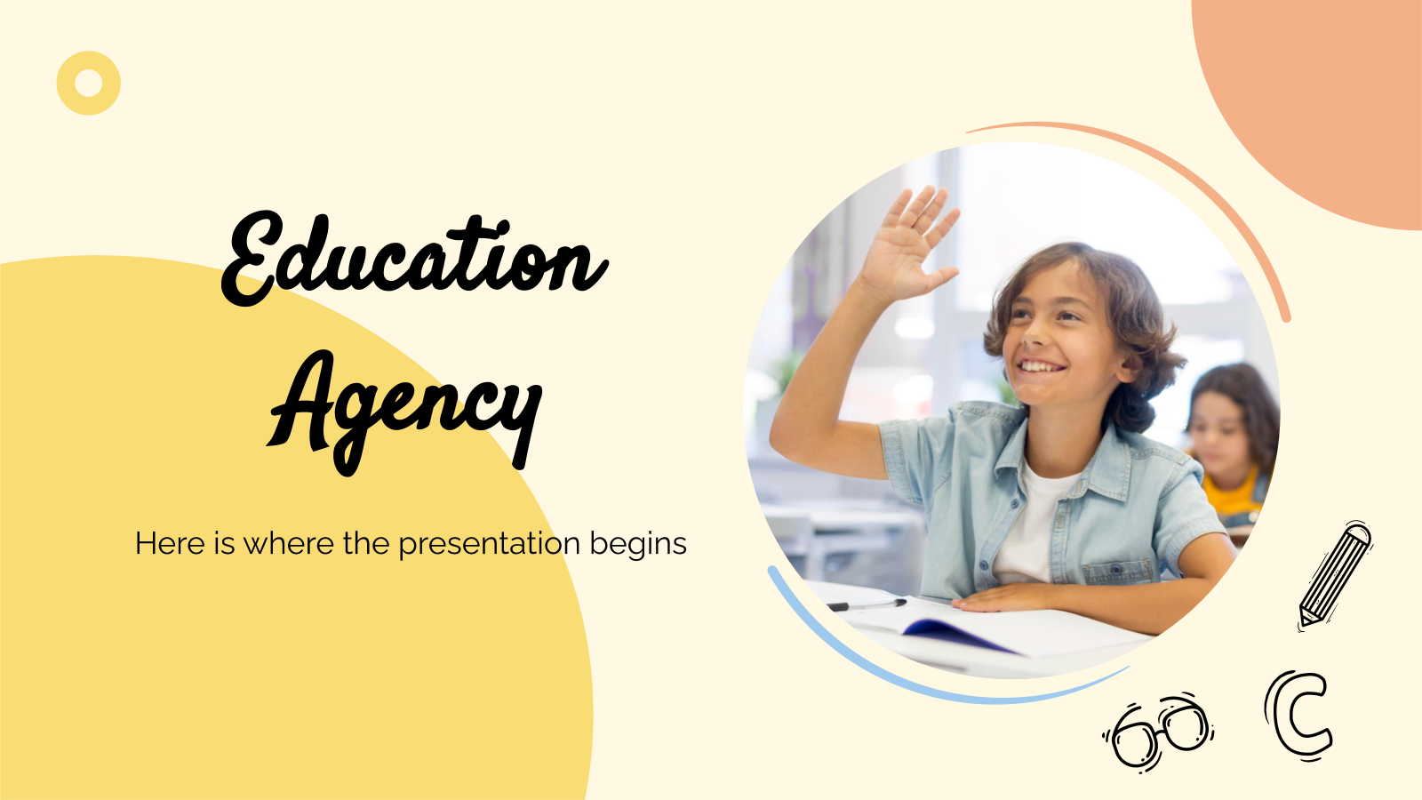Education Agency presentation template
