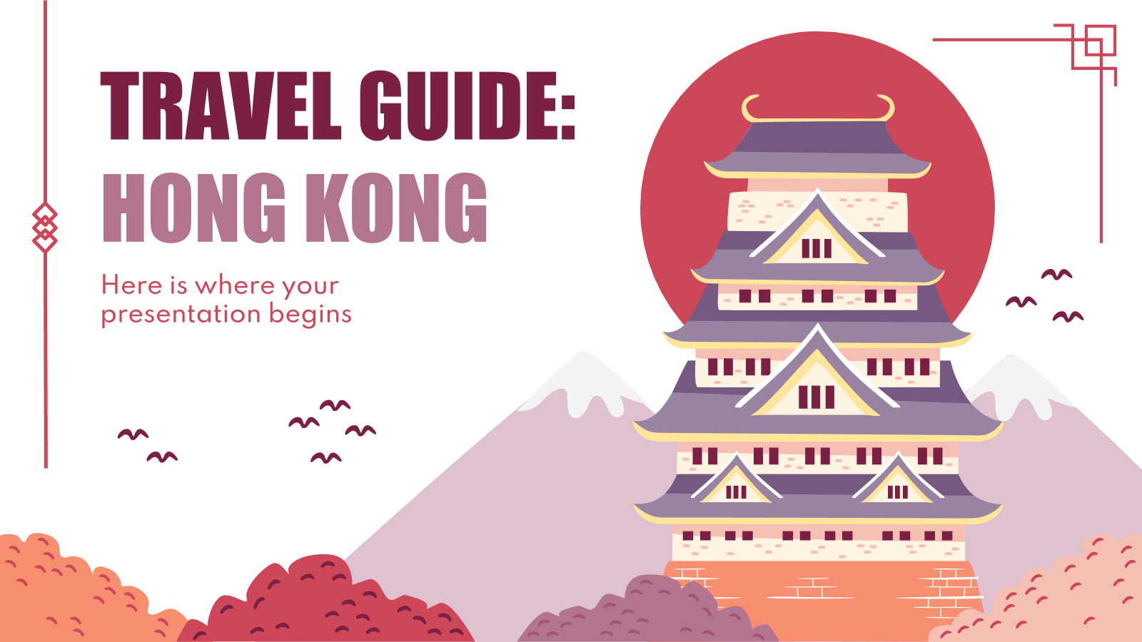 Travel Guide: Hong Kong presentation template