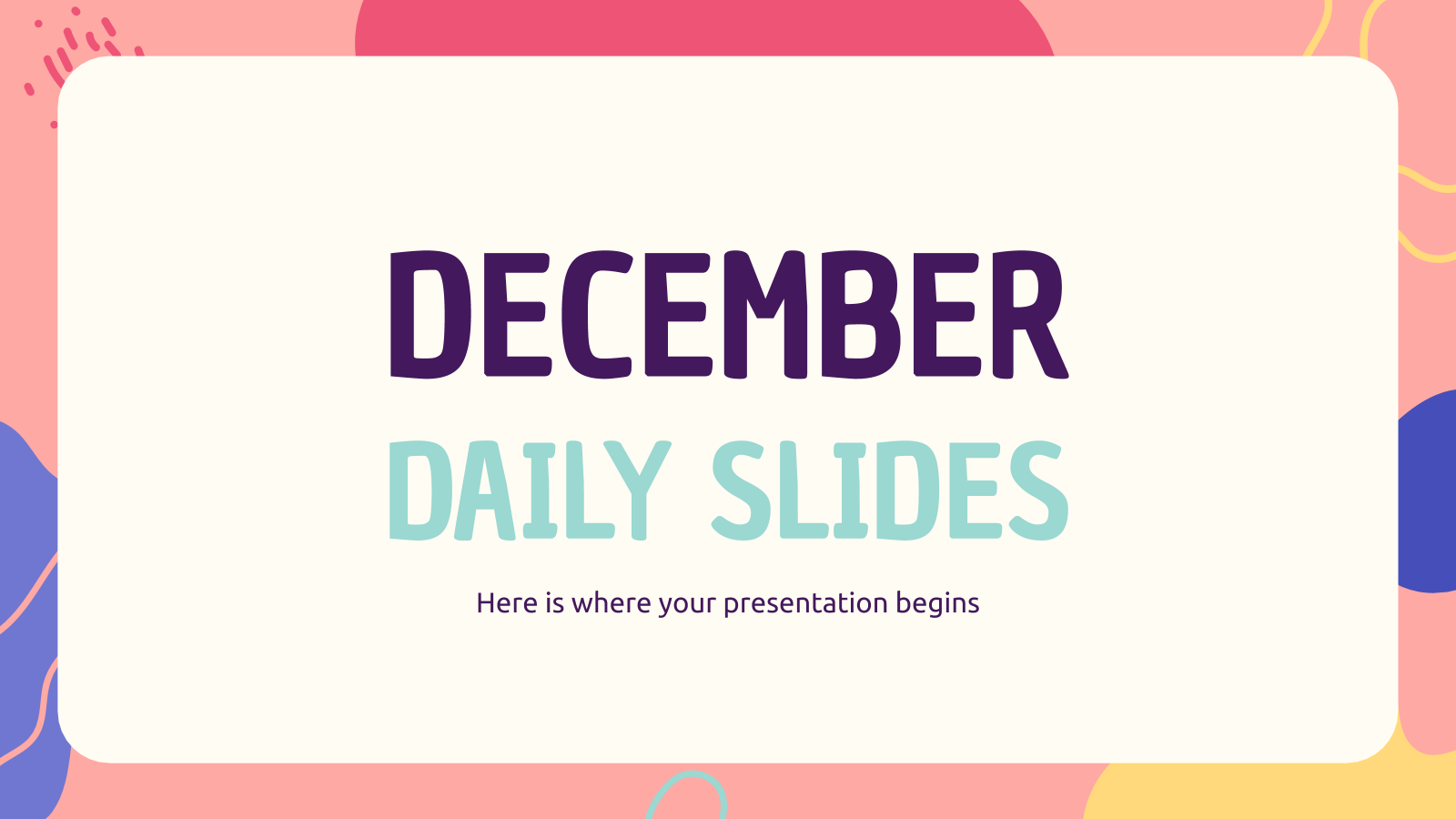 Modelo de apresentação Dezembro dia a dia