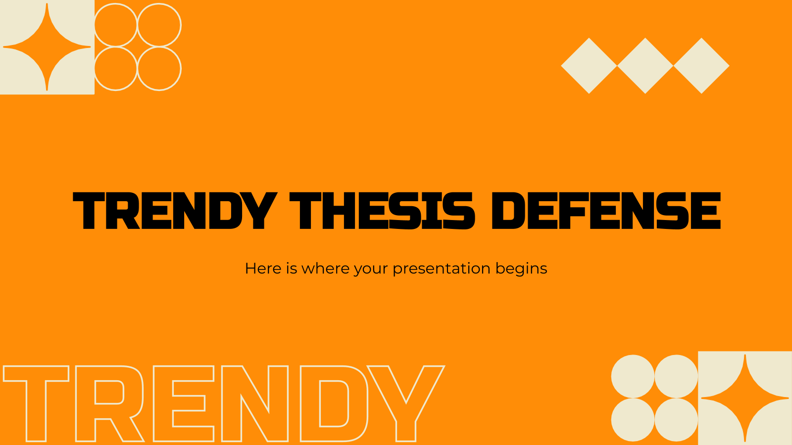 Trendy Thesis Defense presentation template