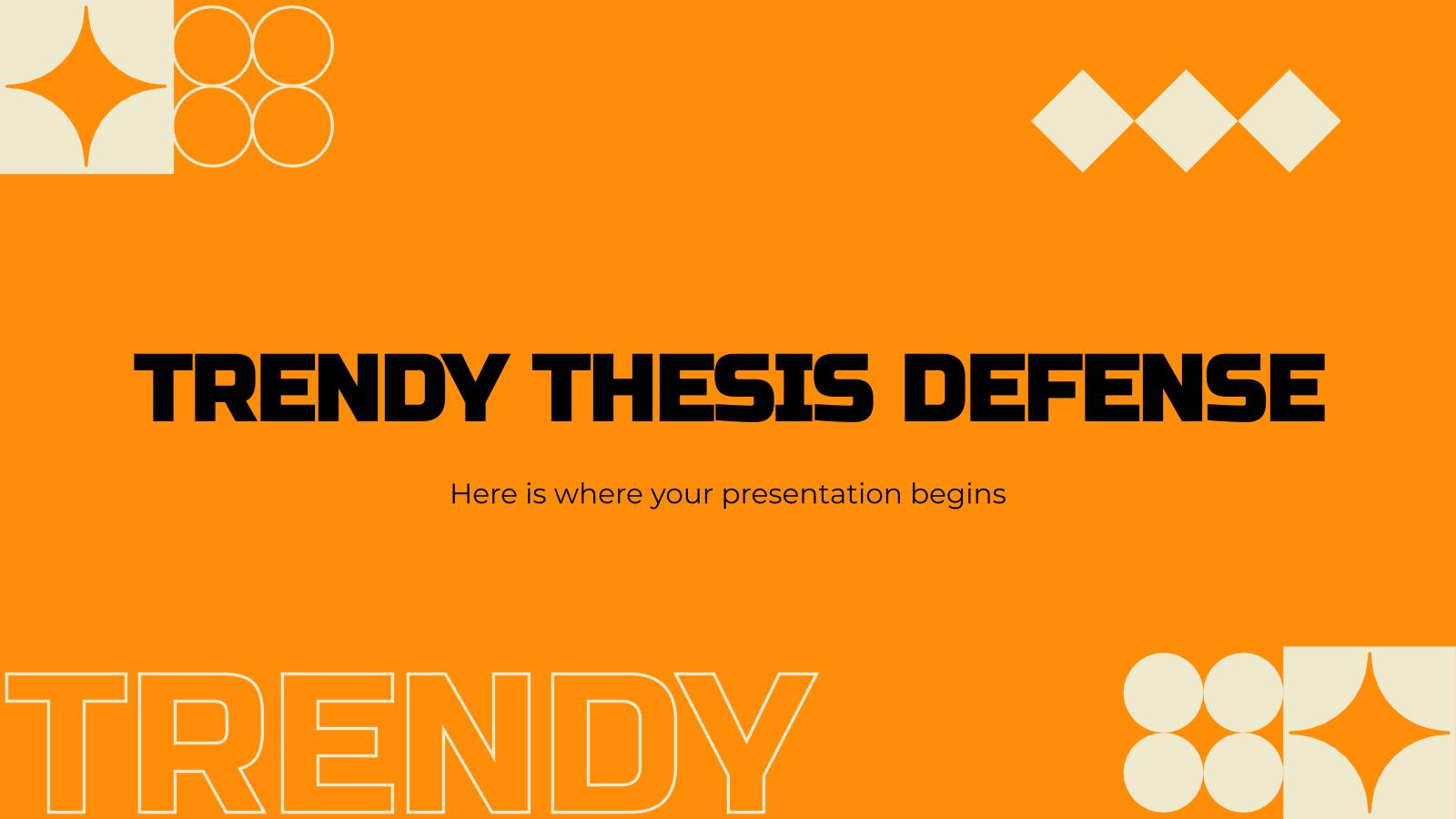 Soutenance de thèse tendance : Modèles de présentation