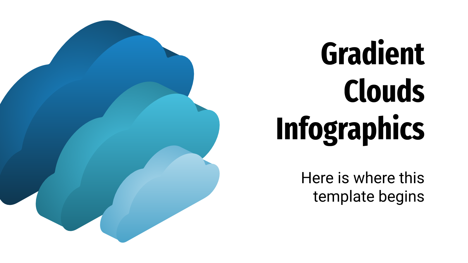 Gradient Clouds Infographics presentation template