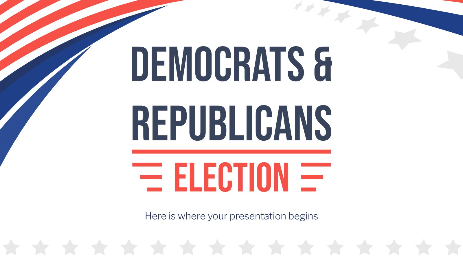 Modelo de apresentação Democratas e republicanos: eleição