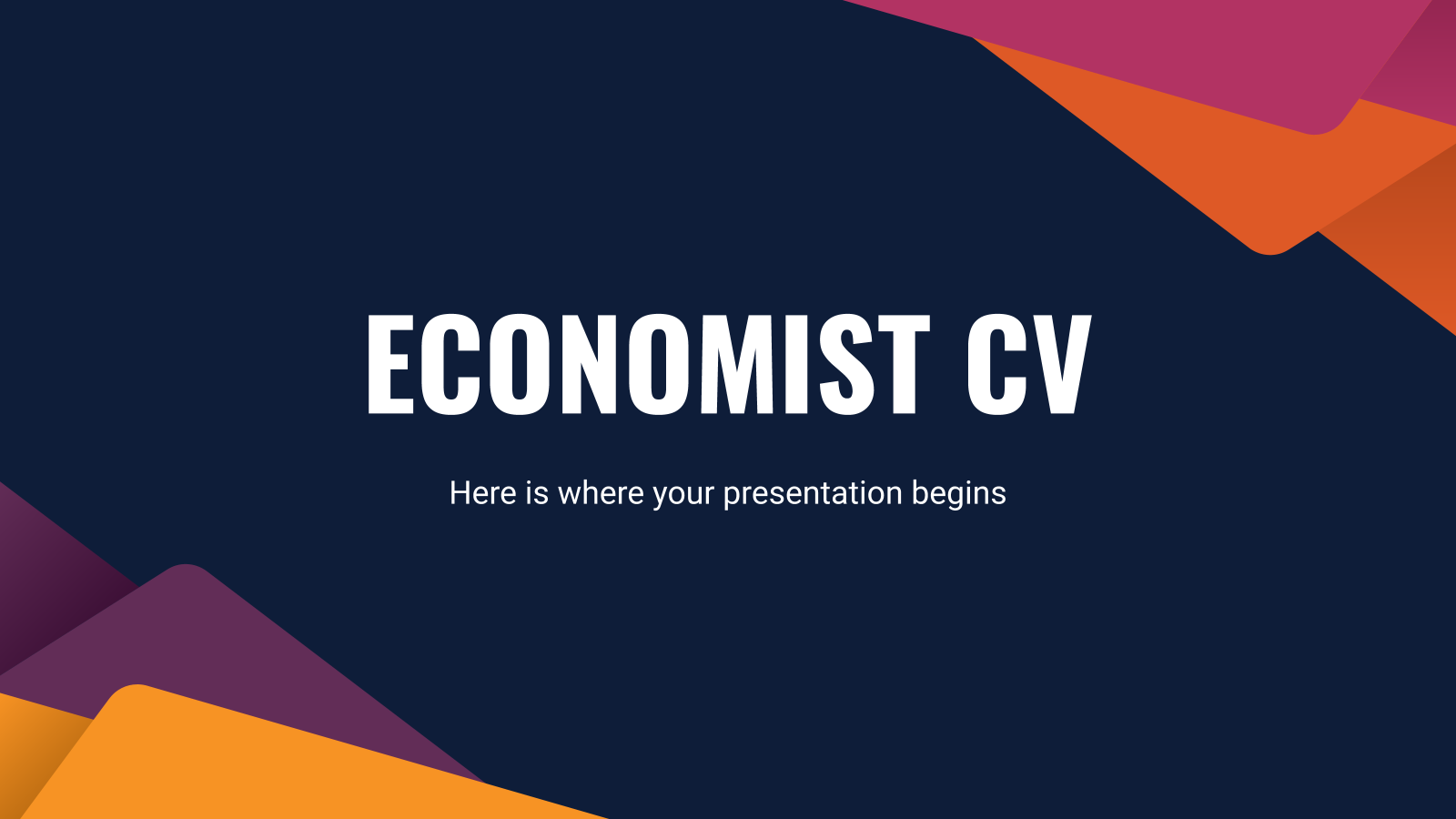 Economist CV presentation template