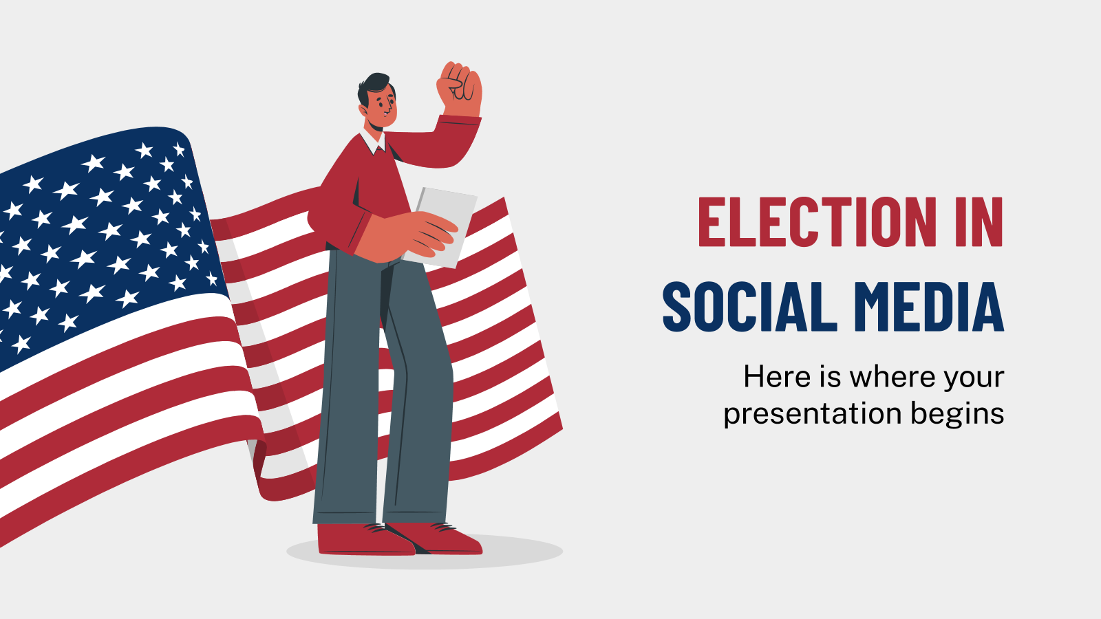 Election in Social Media presentation template