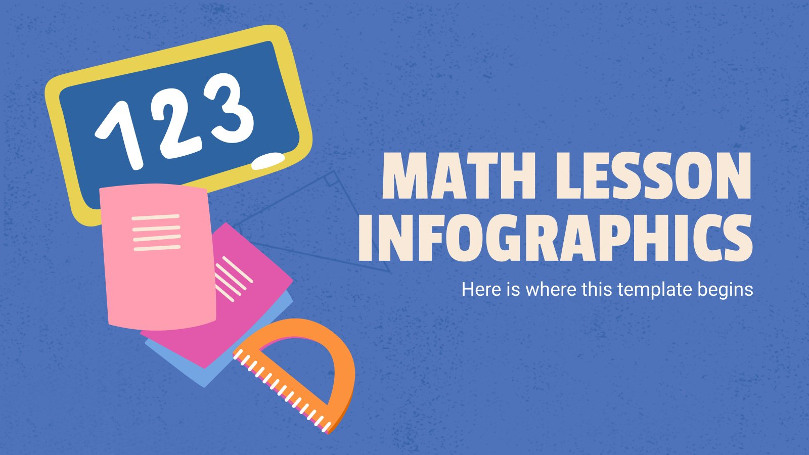 Math Lesson Infographics presentation template