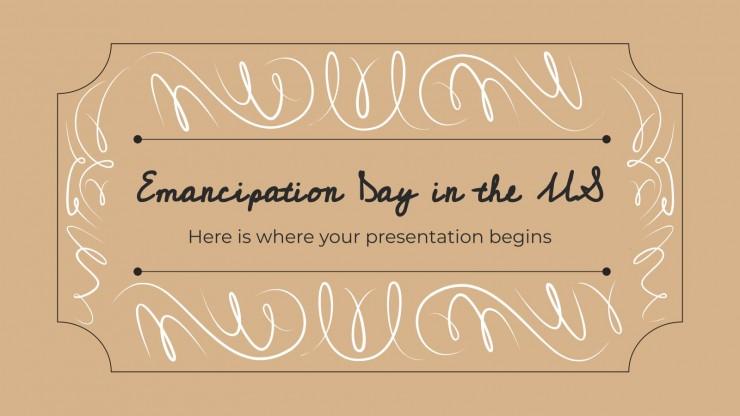Modelo de apresentação Dia da Proclamação da Emancipação dos Escravos nos EUA