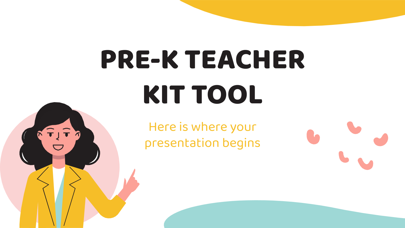 Pre-K teacher kit tool presentation template