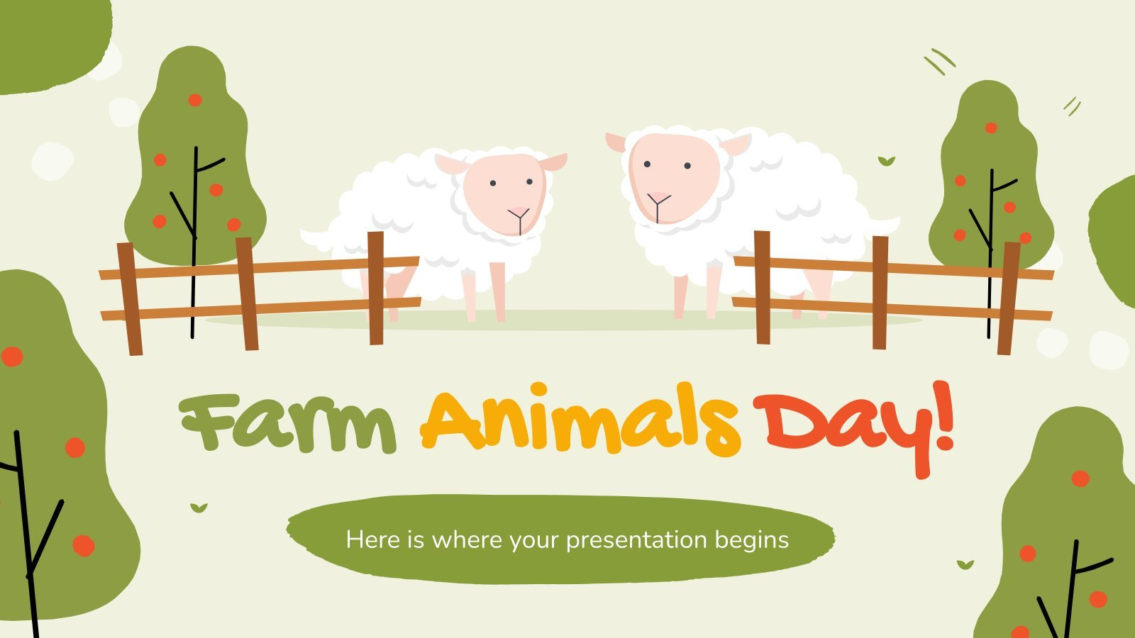 Farm Animals Day presentation template