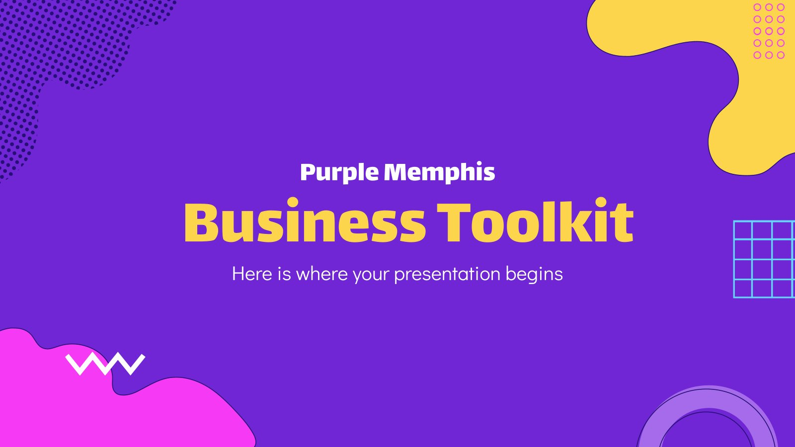 Purple Memphis Business Toolkit presentation template