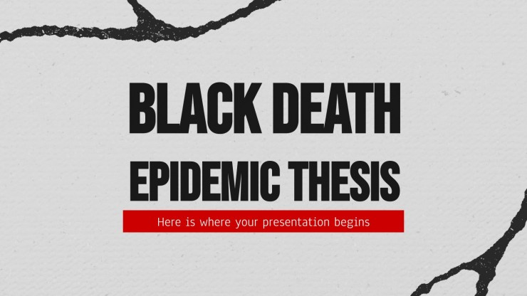 Black Death Epidemic Thesis presentation template
