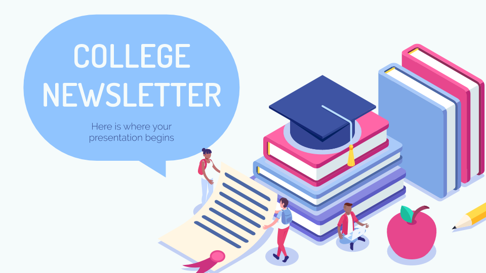 College Newsletter presentation template