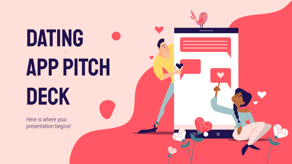 Dating App Pitch Deck presentation template