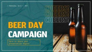 Modelo de apresentação Campanha do Dia da Cerveja