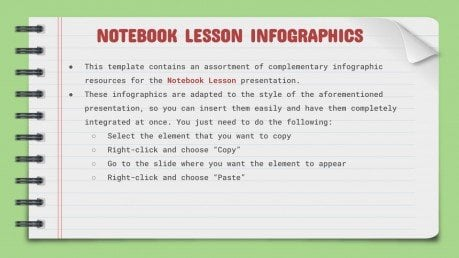Plantilla de presentación Infografías de cuaderno para clases