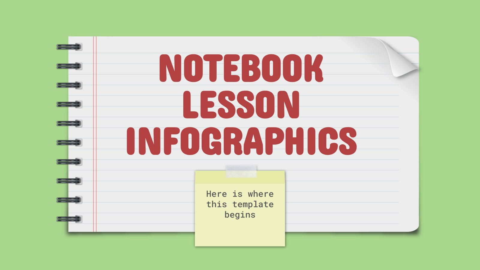 Notebook Lesson Infographics presentation template