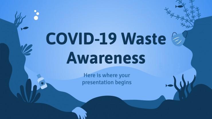 Modelo de apresentação Conscientização sobre resíduos da COVID-19