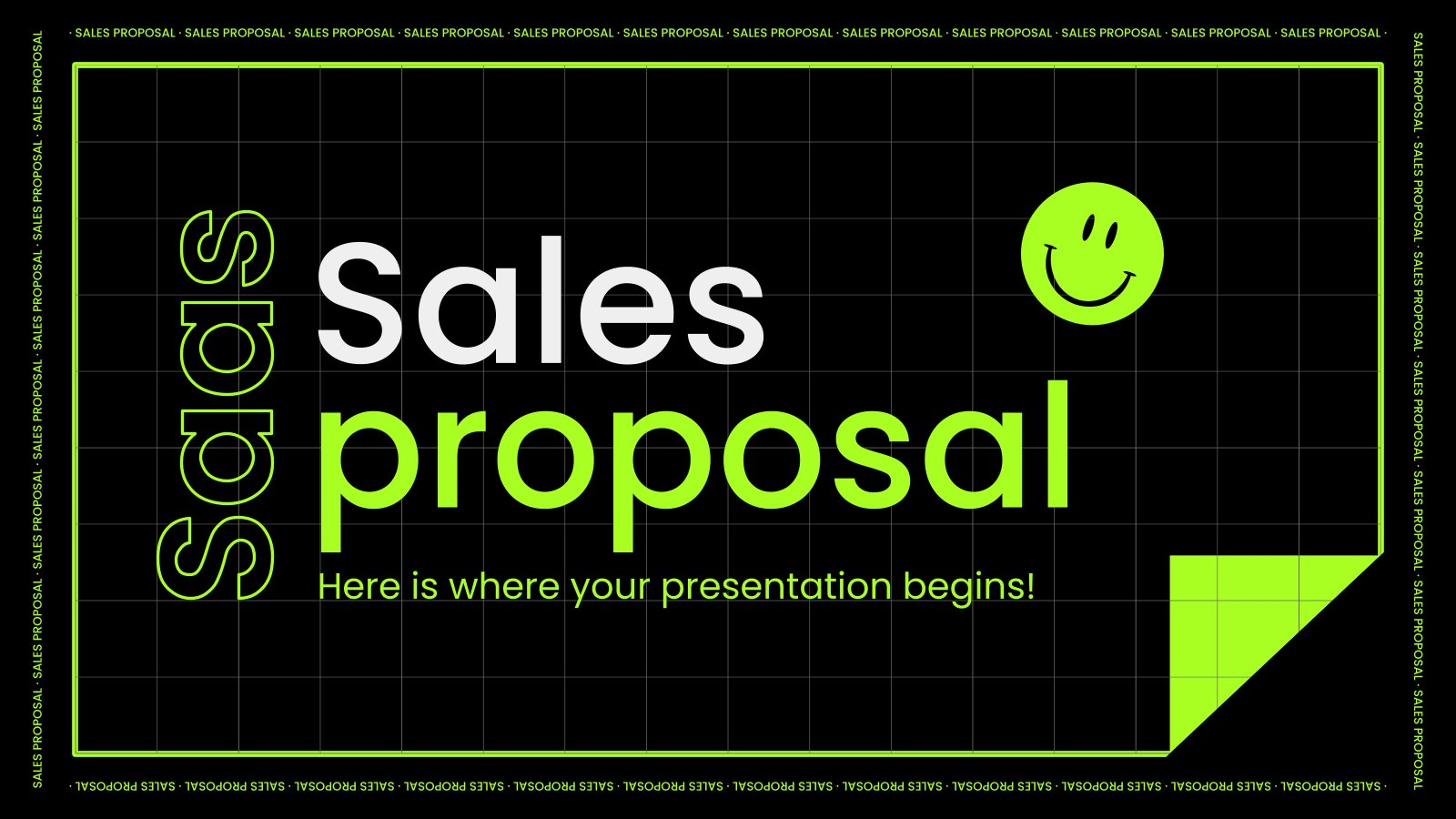 Saas Sales Proposal presentation template