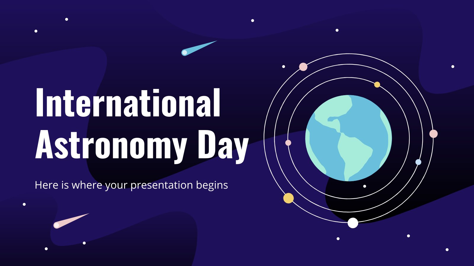 International Astronomy Day presentation template