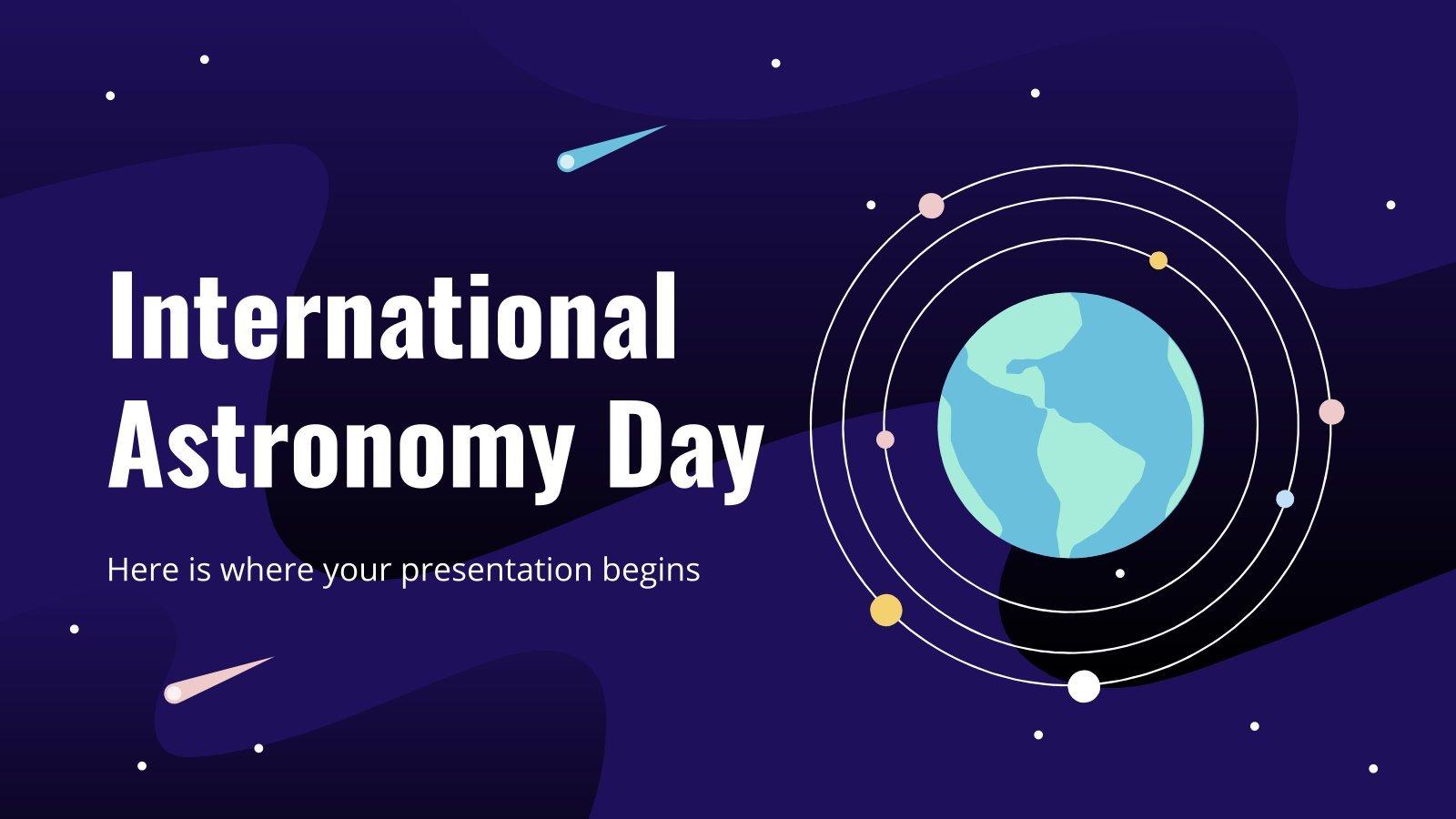 Journée Mondiale de l'Astronomie : Modèles de présentation