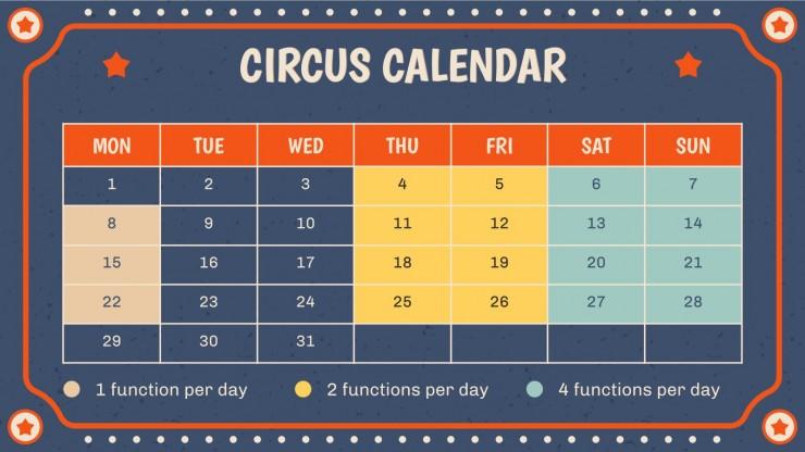 Modelo de apresentação Dia Mundial do Circo