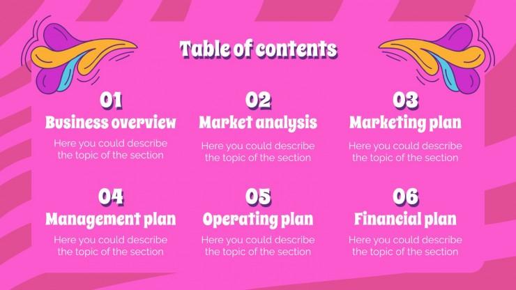 Modelo de apresentação Plano de negócios Flower Power
