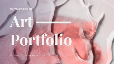 Art Portfolio presentation template