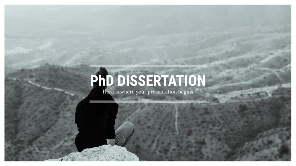PhD Dissertation presentation template