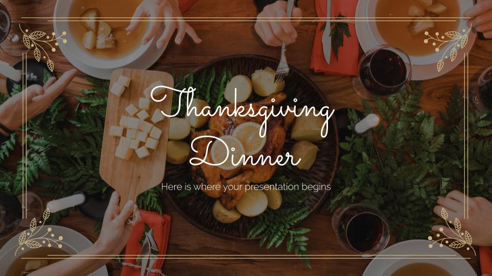 Plantilla de presentación Cena de Acción de Gracias