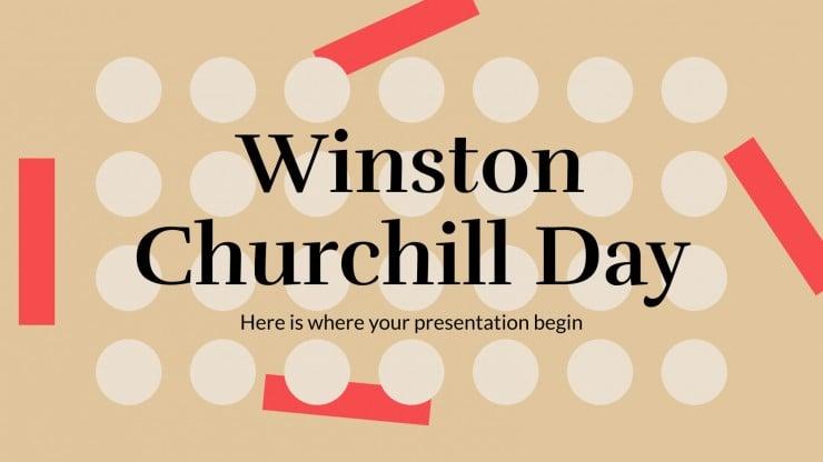 Journée de Winston Churchill : Modèles de présentation