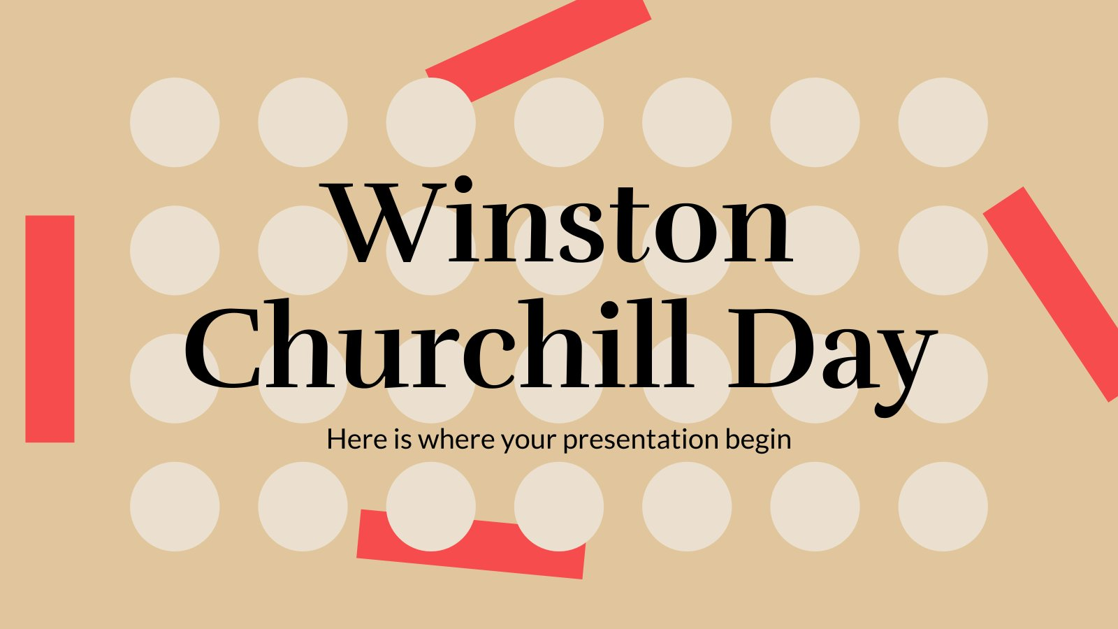 Winston Churchill Day presentation template