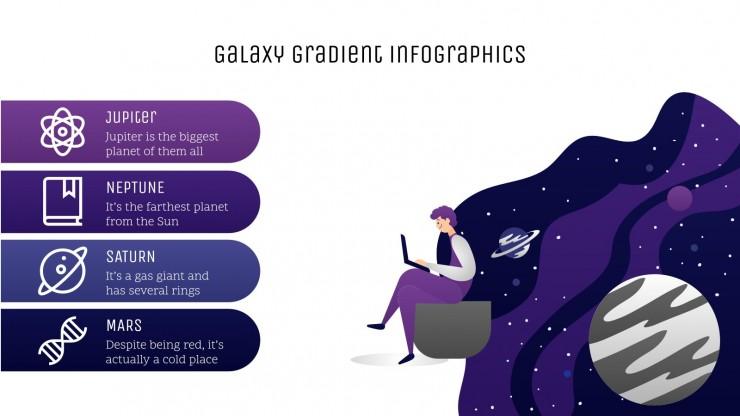 Infographies galaxie dégradé : Modèles de présentation