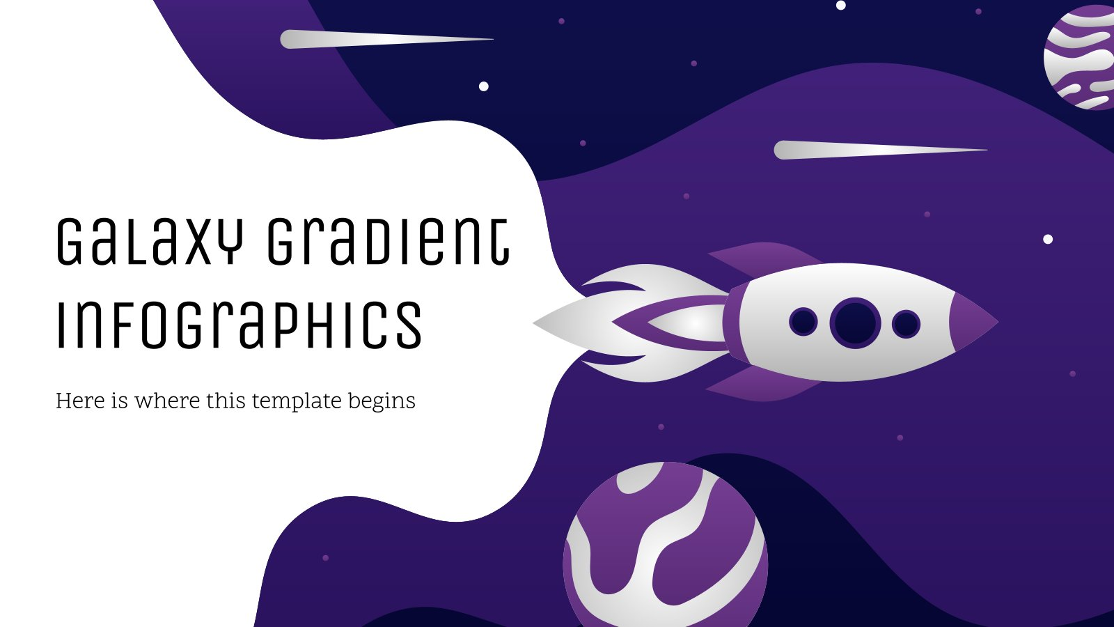 Galaxy Gradient Infographics presentation template