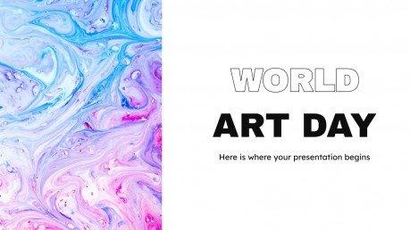 Plantilla de presentación Día Mundial del Arte