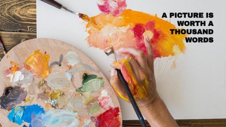Modelo de apresentação Dia Mundial da Arte