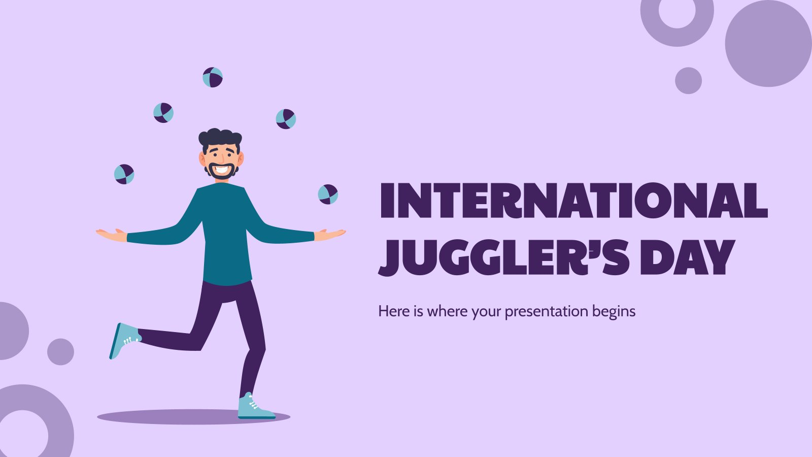 International Juggler's Day presentation template