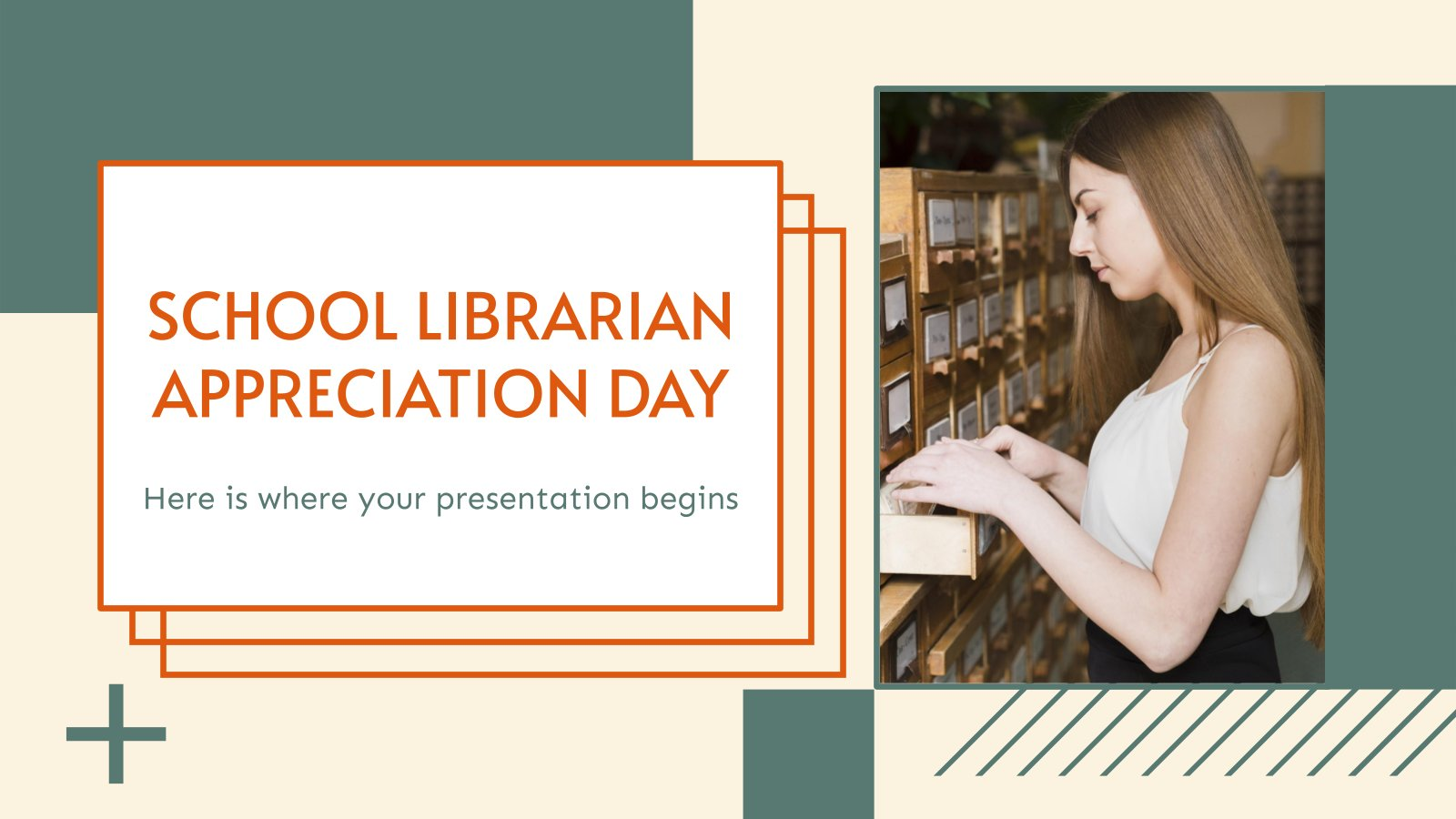 School Librarian Appreciation Day presentation template