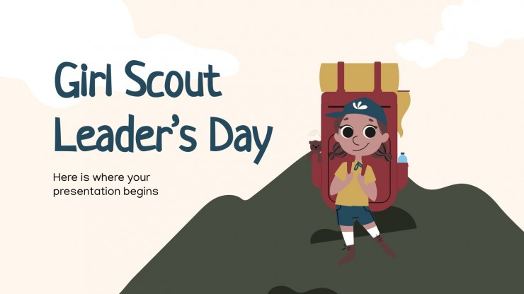 Girl Scout Leader's Day presentation template
