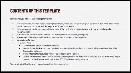 Modelo de apresentação Use echarpes como uma influencer