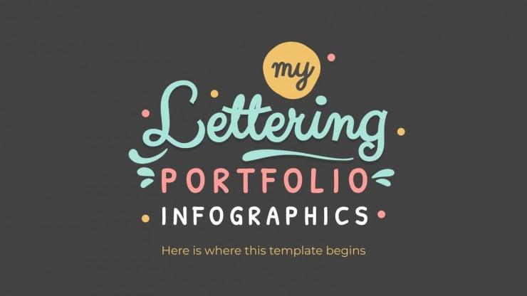 Lettering Portfolio Infographics