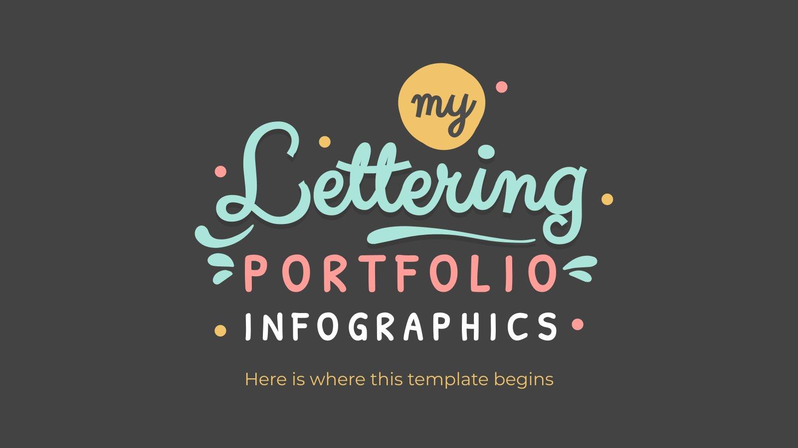 Infographies portfolio de lettrage : Modèles de présentation