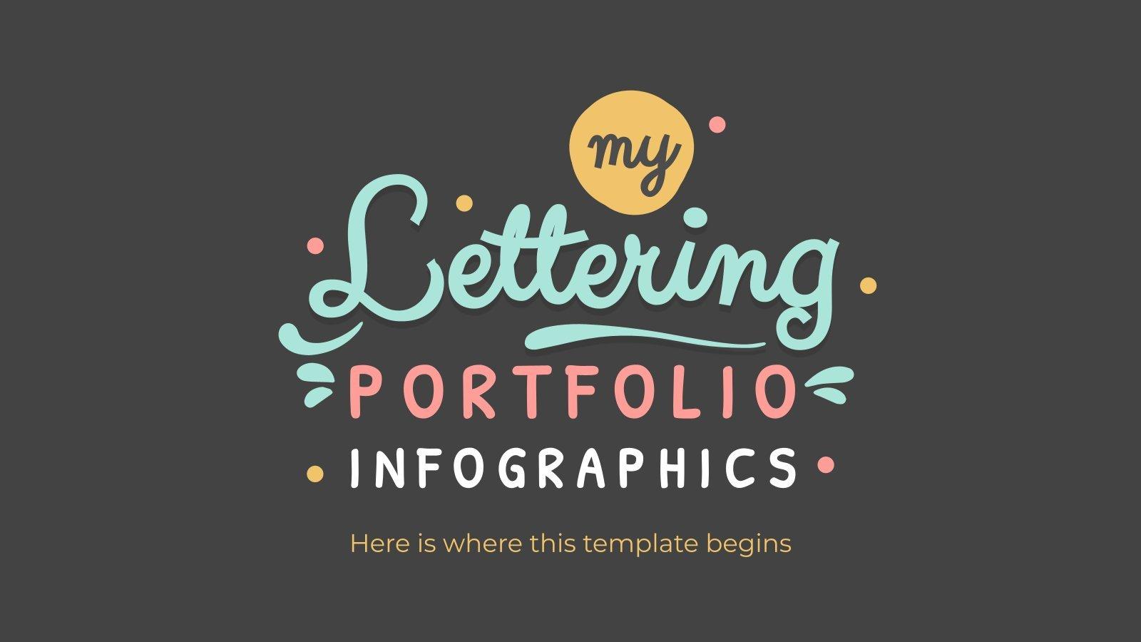 Lettering Portfolio Infographics presentation template