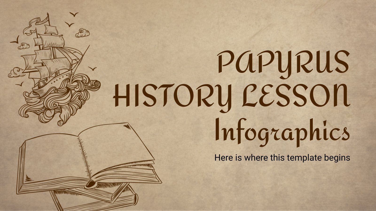 Papyrus History Lesson Infographics presentation template