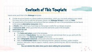 Thèse carnet Handa : Modèles de présentation