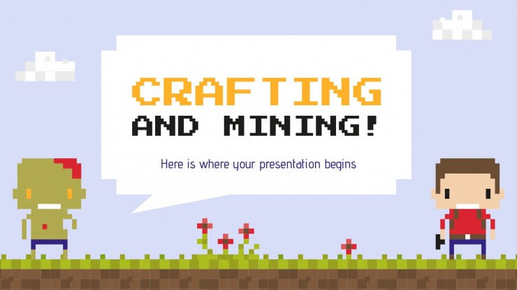 Crafting and Mining presentation template